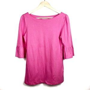 Lilly Pulitzer Top Medium Pink Ruffle Sleeve